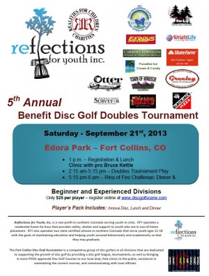 Reflections for Youth 5th Annual Benefit Disc Golf Doubles Tournament! graphic