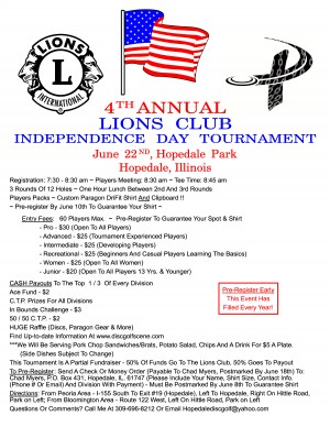 4th Annual Lions Club Independence Day Tournament graphic