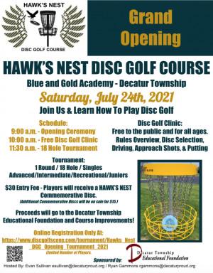 Hawk's Nest DGC Opening Tournament graphic