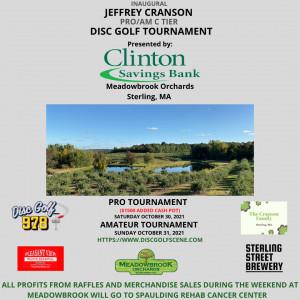 Inaugural Jeffrey Cranson Disc Golf Tournament Pro Day graphic