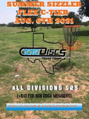 1010discs TexasTeam presents Summer Sizzler Flex C tier graphic