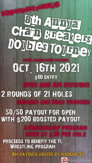 8th Annual Chain Breakers Doubles Tourney graphic