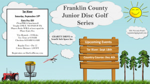 Franklin County Junior Disc Golf Series - TR graphic