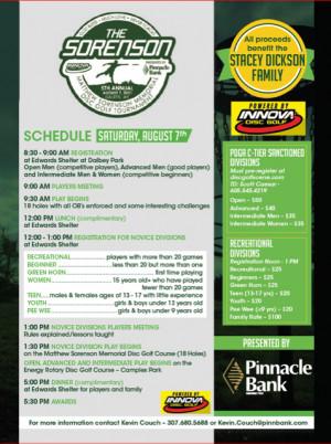 5th Annual Matthew Sorenson Memorial Disc Golf Tournament Powered By Innova Golf Discs graphic