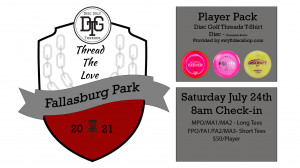Thread the Love - Fallasburg 2021 Presented by: Disc Golf Threads graphic