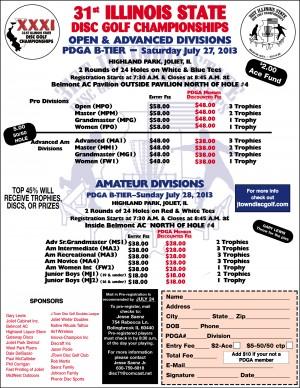 31st Illinois State Disc Golf Championships - Pro/Adv graphic