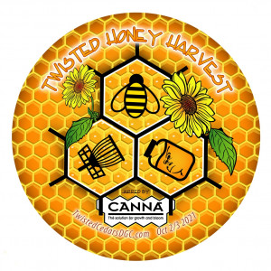 Twisted Honey Harvest Jarred By CANNA graphic
