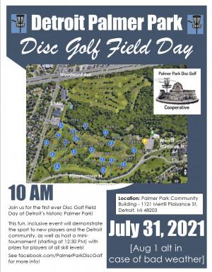 Detroit Palmer Park Disc Golf Field Day graphic