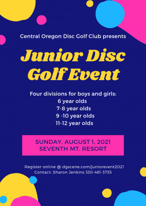 Juniors Disc Golf Event at Seventh Mountain Resort graphic