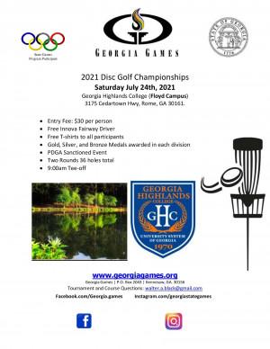 Georgia Games Disc Golf Championship graphic