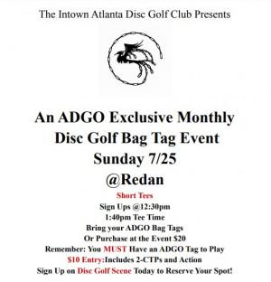 Atlanta Disc Golf Organization Monthly Tournament @Redan graphic