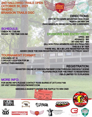 The 2nd Annual Hallowed Trails Open graphic