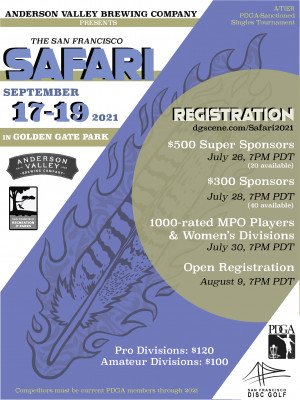 Anderson Valley Brewing Company presents the San Francisco Safari supported by Innova graphic