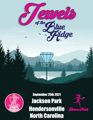 Jewels of the Blue Ridge Throw Pink for Meredith Nichols graphic