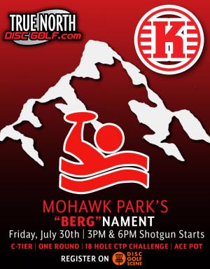 """Mohawk Park's 18 Hole CTP Race   Rapid Rounds @3pm - """"BERG""""nament graphic"""