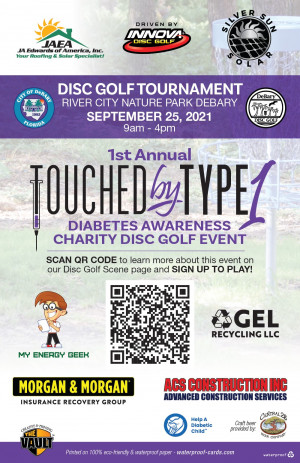 1st Annual  Touched by Type 1 Charity Disc Golf Event graphic