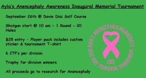 Ayla's Anencephaly Awareness Memorial Tournament graphic
