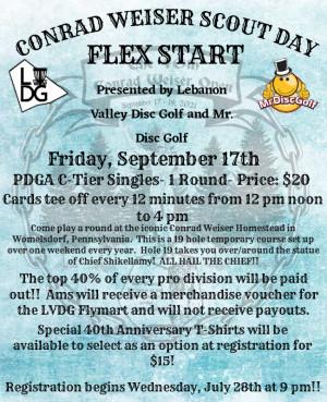 Conrad Weiser Scout Day- Flex Start graphic