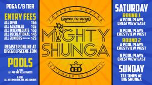 Dynamic Discs NWA Presents: 2021 Mighty Shunga Sponsored By Brawndo graphic