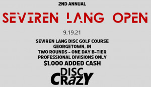 2nd Annual Seviren Lang Open Presented by Disc Crazy graphic