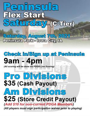Peninsula Flex Start Saturday graphic