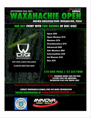 2021 Waxahachie Open graphic