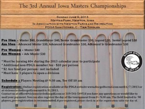 3rd Annual Iowa Masters Championships by Vicious Circle Disc Golf graphic