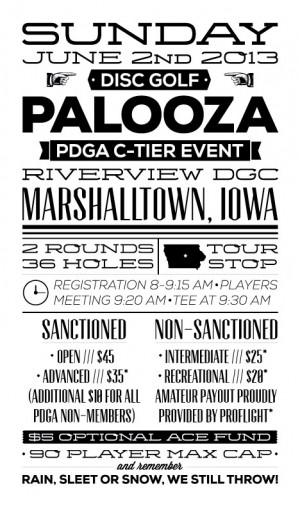 Disc Golf Palooza 2013 graphic