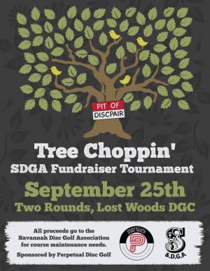 Tree Choppin SDGA fundraiser graphic