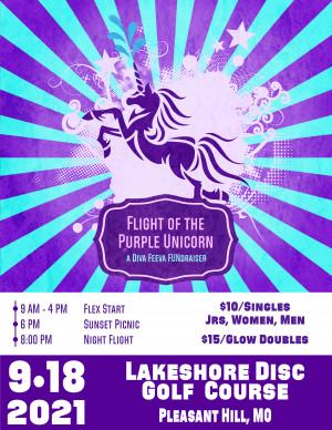 Flight of the Purple Unicorn - Night Flight (Glow Doubles) graphic
