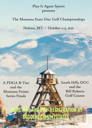 Play It Again Sports presents the Montana State Disc Golf Championships driven by Innova graphic
