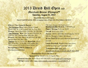 2013 Druid Hill Open graphic