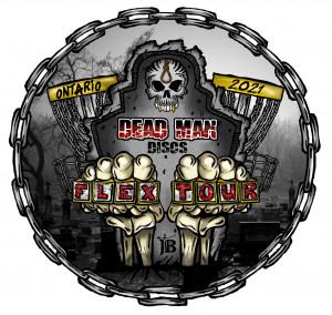 Dead Man Discs Flex Tour 2021 Stop #8  Niagara Falls - Firemans Park graphic