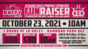 2021 BUFFY Animal Welfare Group FUNraiser presented by Dynamic Discs graphic