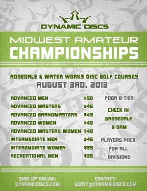 Dynamic Discs Presents the Midwest Amateur Championships graphic