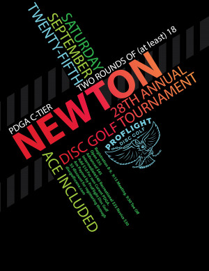 Newton Parks 28th Annual Disc Golf Tournament presented by ProFlight graphic