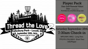 Thread the Love 2 - Fallasburg 2021 Presented by: Disc Golf Threads graphic