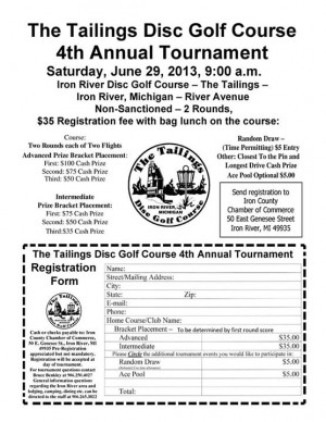The Tailings 4th annual disc golf tournament graphic