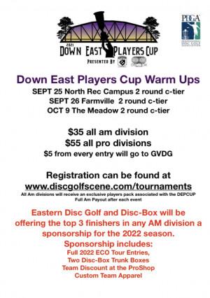 DEP CUP Warm Up North Rec Complex Greenville graphic