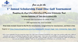 1st Annual Angel Care Scholarship Open graphic