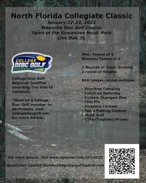 College Disc Golf - North Florida Collegiate Classic graphic