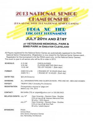 2013 National Seniors Championship graphic