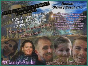 Cancer sucks in Houghton lake graphic