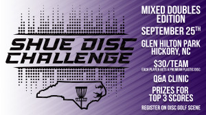 Shue Disc Challenge - Mixed Doubles Edition at Glen Hilton Presented by Dynamic Discs graphic