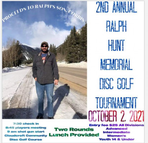 2nd annual Ralph Hunt Memorial Disc Golf Tournament graphic