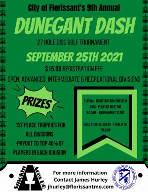 9th Annual Dunegant Dash graphic