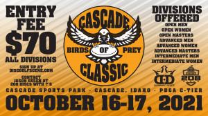 Cascade Birds of Prey Classic sponsored by Dynamic Discs / 208 Discs graphic