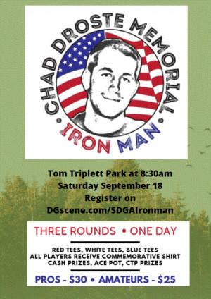 4th Annual Chad Droste Memorial Iron Man graphic