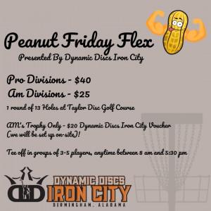 Peanut Friday Flex - Presented By Dynamic Discs Iron City graphic