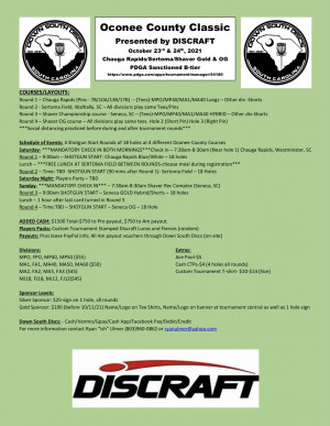Oconee County Classic presented by Discraft graphic